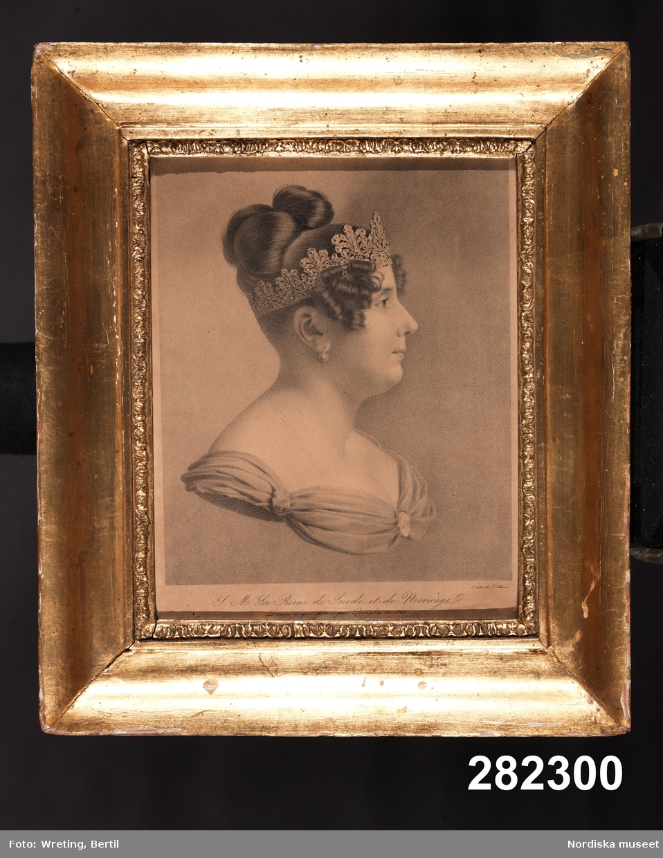 Porträtt, dam i profil