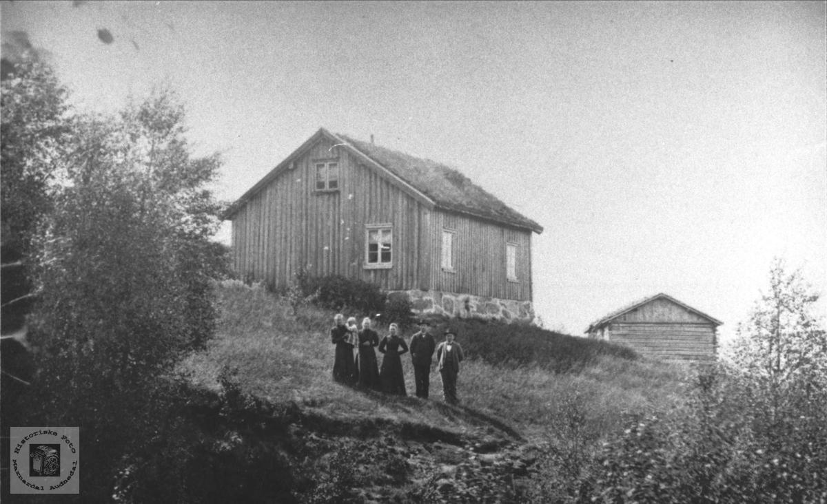Roland og Valebrok folk ved Roslivollen, Bjelland.