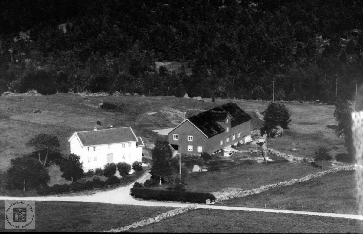 """Garden """"Der nord"""" på Abelseth, øvre i Bjelland."""