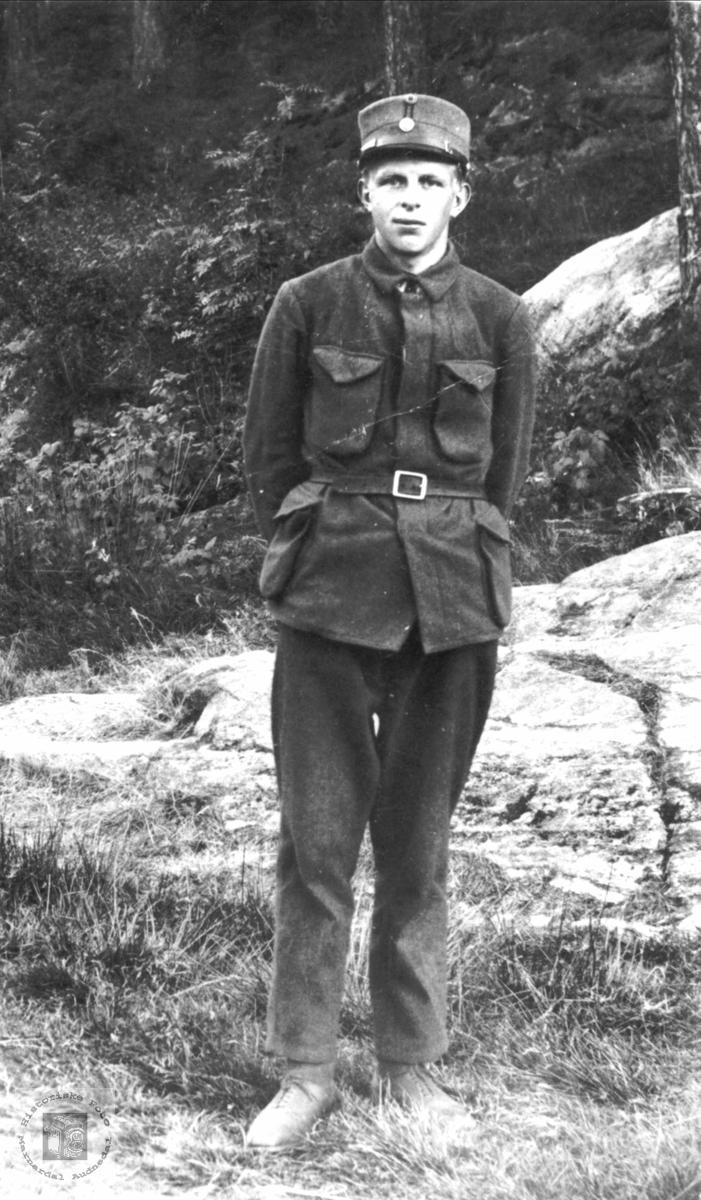 Portrett av Kristian Flåt som soldat
