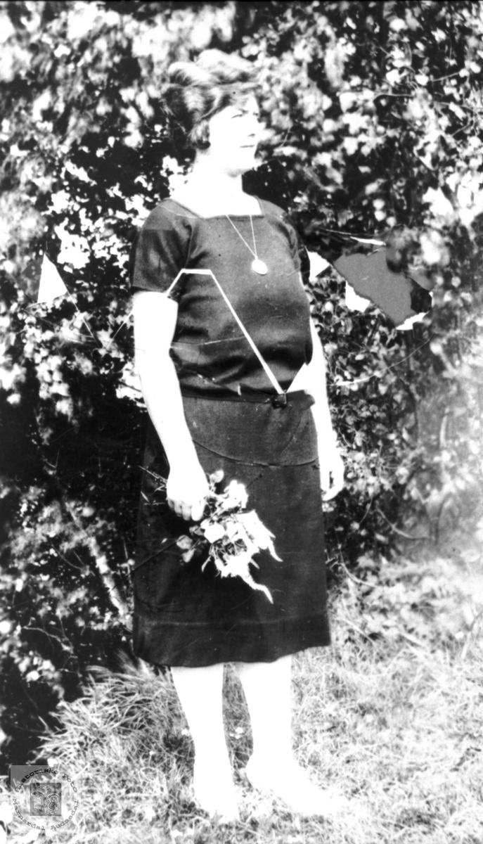 Portrett av Anna Ødegård, tidligere Bjelland, nå Audnedal.