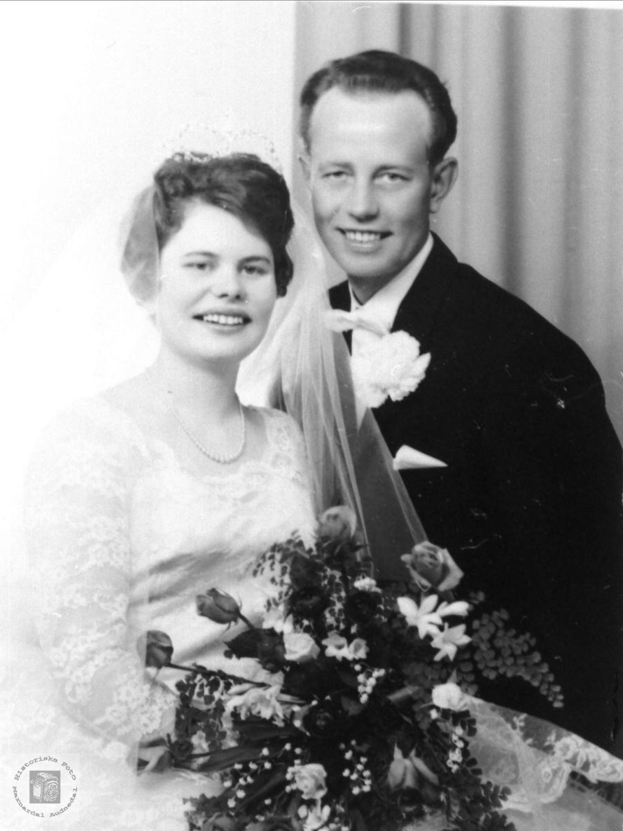 Brudeparet Ingrid og Salve Rosseland, Bjelland.