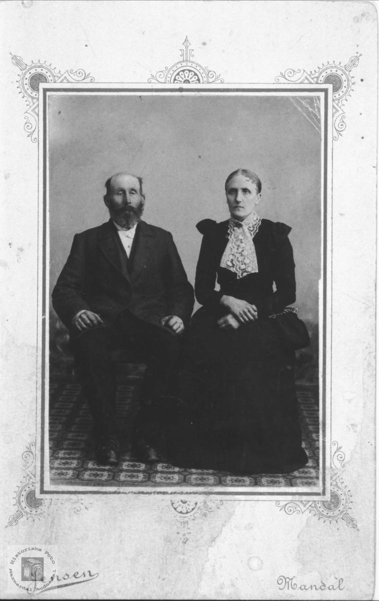 Dobbelportrett av Kristen og Gunnhild Marie Skjævesland, Øyslebø.