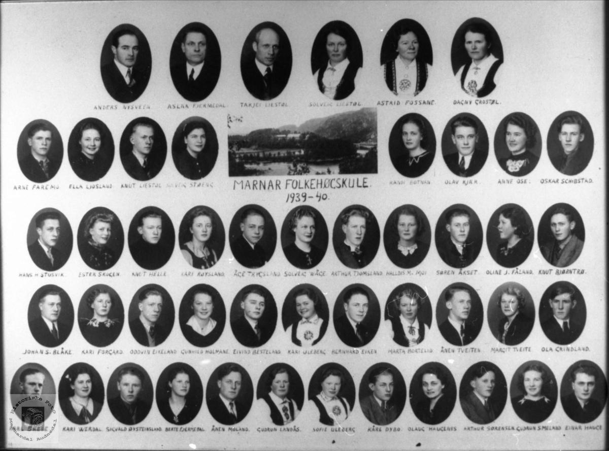 Marnar Folkehøgskole 1939-1940