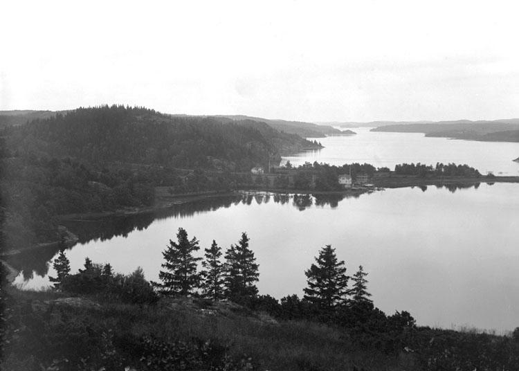 Juli 1924. Utsikt från Olsborg mot Sundshult, över S. Bullaren.
