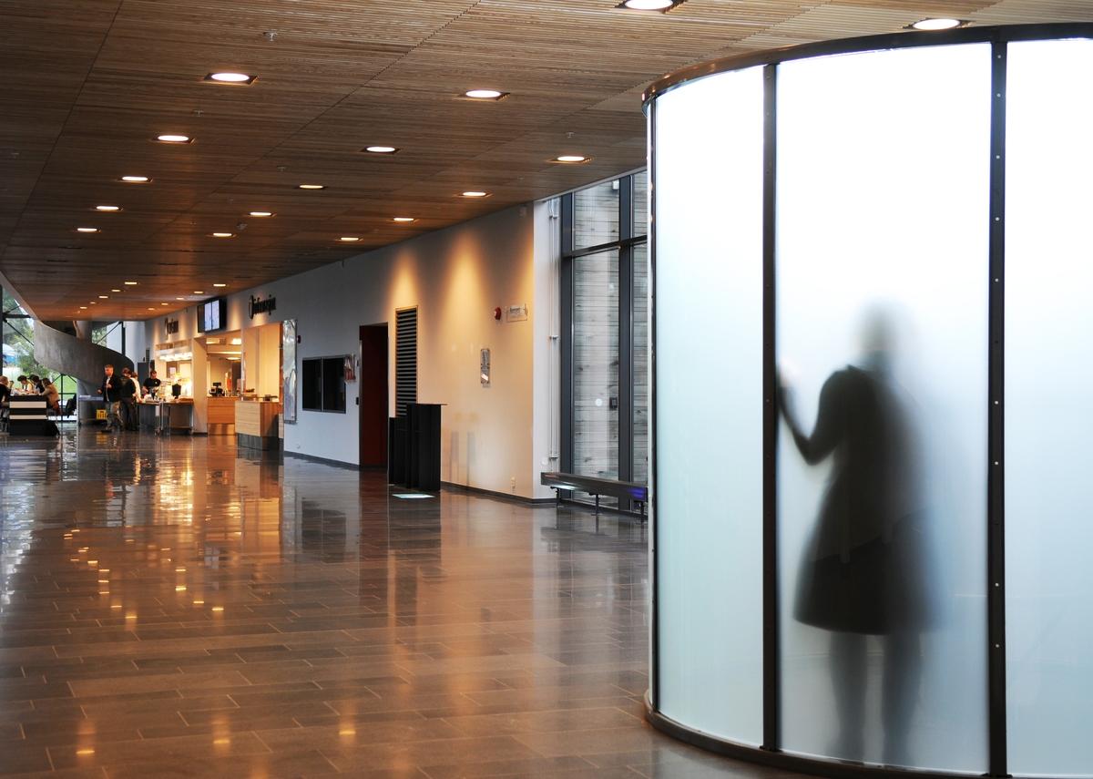 Lysrotunden er et stille sted der man kan sitte og samle energi, eller et møtested for flere. Lysterapi har vist seg å være energigivende. Ved å befinne seg i det opplyste sentrum, inne i rotunden, skaper man et skyggespill man selv ikke får se: Skyggene av menneskene og aktiviteten inne i rotunden fanges opp av glasset og blir synlig utenfra. Rotundens sentrale plassering, nærhet til bibliotek og fire auditorier, gjør den lett tilgjengelig som praktisk, helsebringende installasjon og foranderlig skyggeteater.