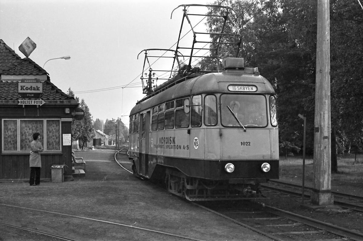 Ekebergbanen, Oslo Sporveier. Vogn 1022.