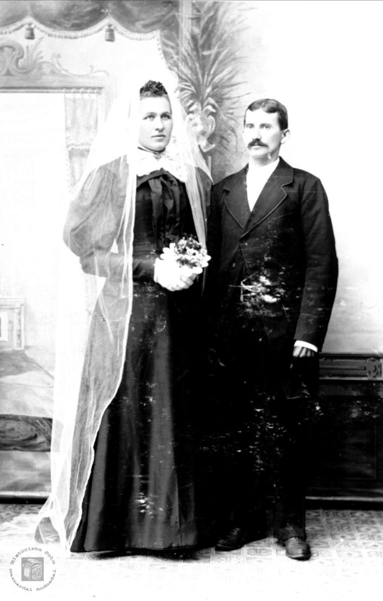Bryllupsbilde til Guri og Aanen Rasmussen
