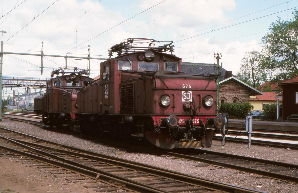 Elektriske lokomotiver SJ litra Hg i Charlottenberg. Hg 675.