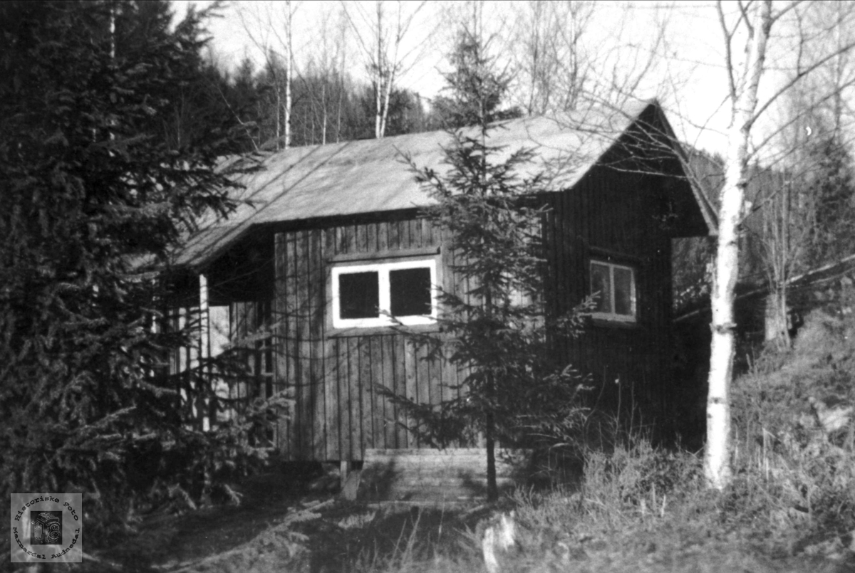 Hytta til Knut Hefteli på Monan i Bjelland