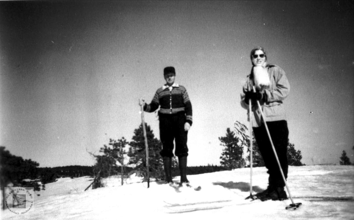 På skitur