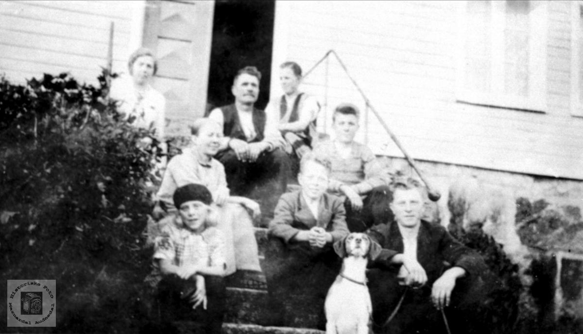 Familiebilde familien Abelset.