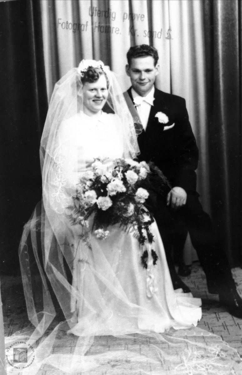 Brudeparet Anna og Sven Foss.