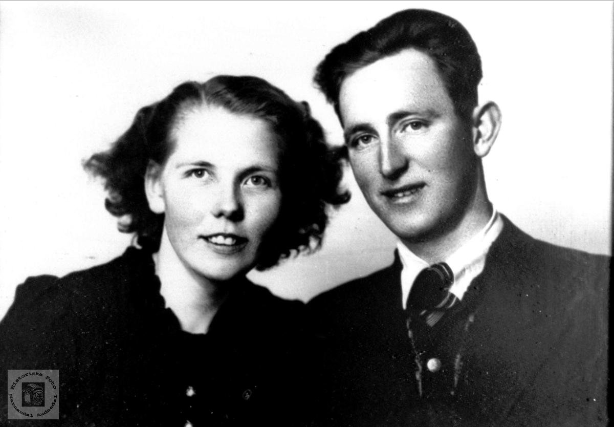 Ektepar. Agnes og Gunnar Tisland.