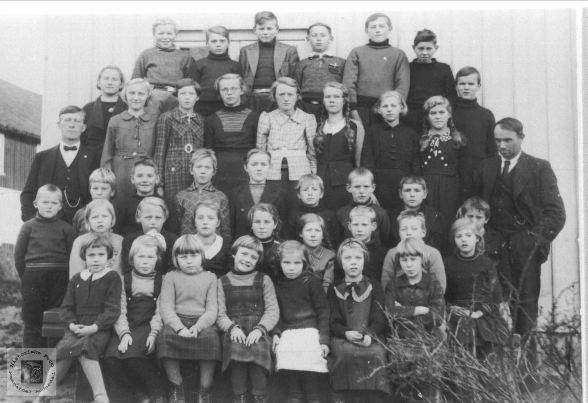 Skolefoto Laudal skole.