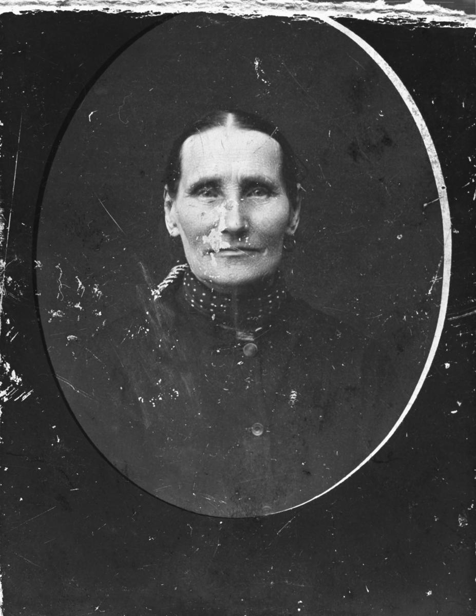 Halvkroppsbilde av Gretha Glasin (var gift med Sigfrid Gustav Ittelin). Også etternavn Larini, Lasinen eller Klasinen er brukt i folketellingen.