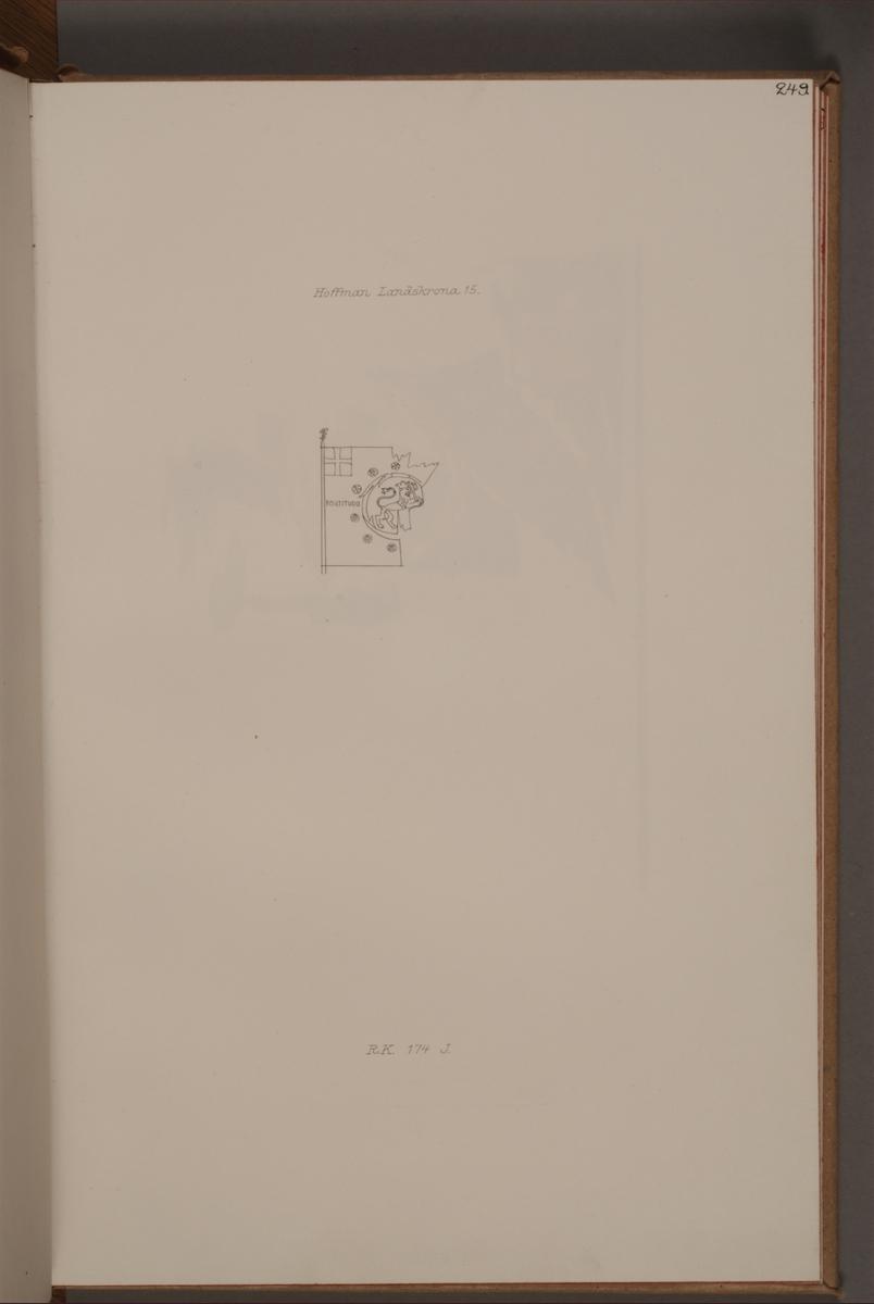 Avbildning föreställande fälttecken taget som trofé av svenska armén. Den avbildade fanan finns delvis bevarad i Armémuseums samling, för mer information, se relaterade objekt.