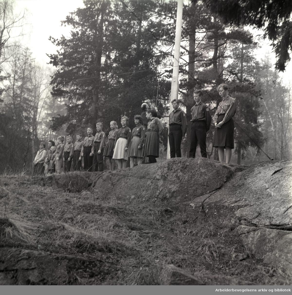 1. mai 1963 .Grorud framlag.Ved Grorud folkets hus...