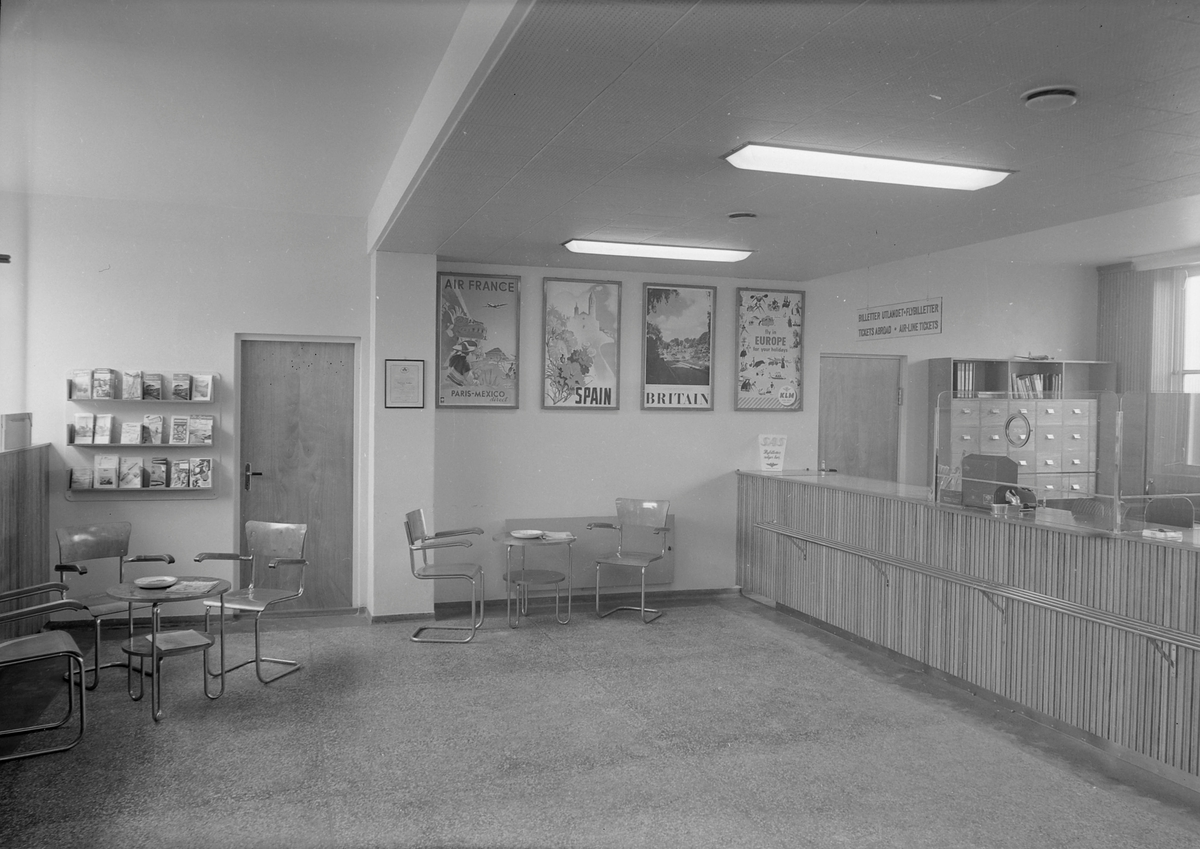 NSB Reisebyrå, interiør
