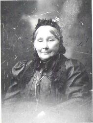Portrettbilde av Bergitta Margreta Hveding, bosatt i Gullvik