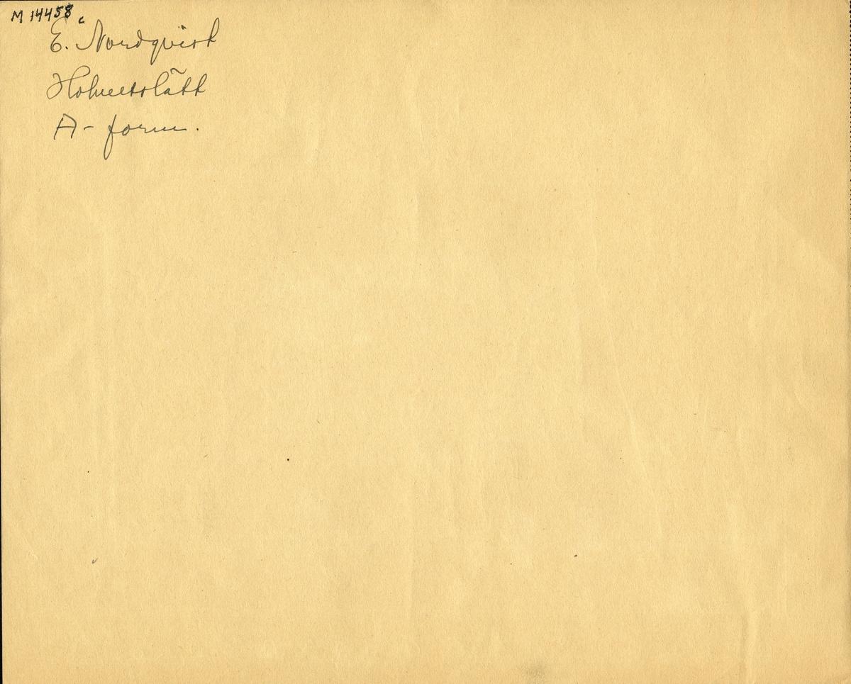 """Barnteckning - akvarell. """"Mitt roligaste skolminne"""". Teaterscen.  Sigvard J:n, Hohultslätt, klass VI, 1941.   Inskrivet i huvudbok 1947."""