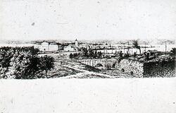 Jönköpings slott, bastion Adolphus och slottsbron från väste