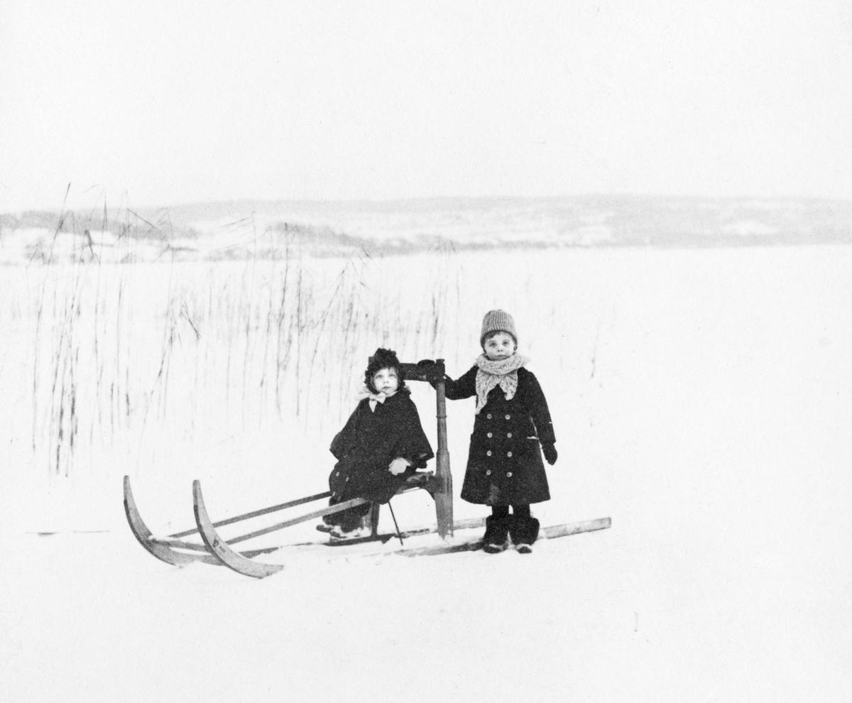 Lerums socken. Aspenäs herrgård, på Aspens is, Elsa och Edward Jr Jacob