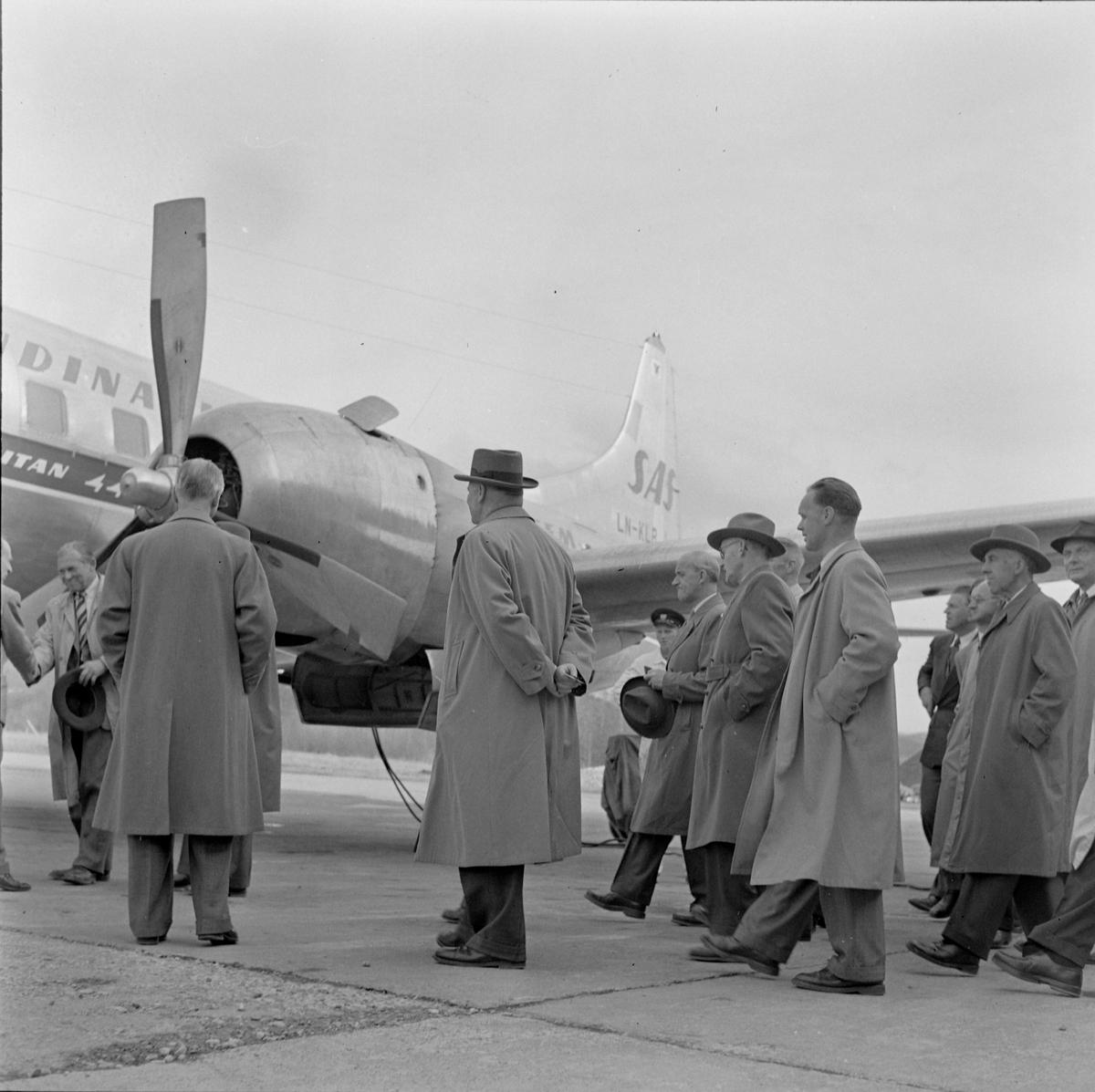 Demonstrasjon av SAS nye fly Metropolitan