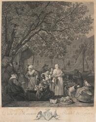 Grönsaksmarknaden i Amsterdam [Gravyr]