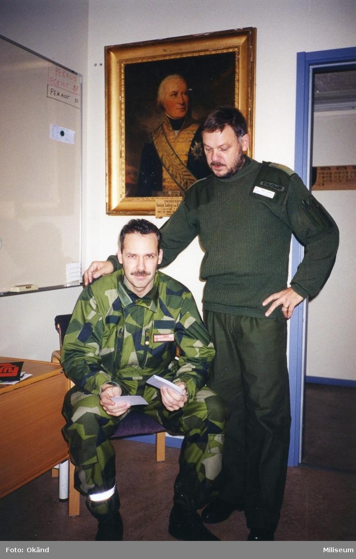 Expedition på I 12. Christer Reimertz, I 12 sittande och Jonny Stålknapp, I 12.