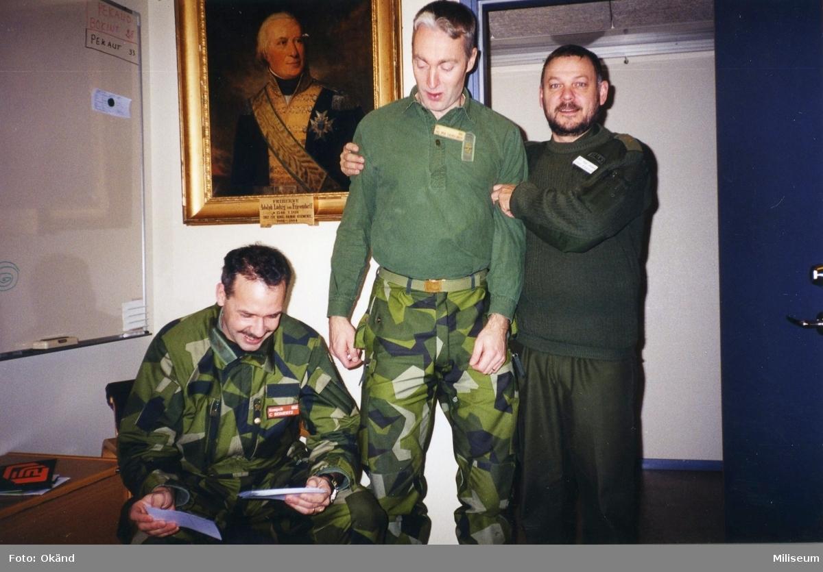 Expedition på I 12. Från vänster Christer Reimertz, I 12, Per Sandgren, I 12 och  Jonny Stålknapp, I 12.