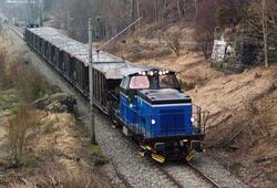 Grenland Rail Skd 229 med kalktog til Ørvik (Brevik) mellom