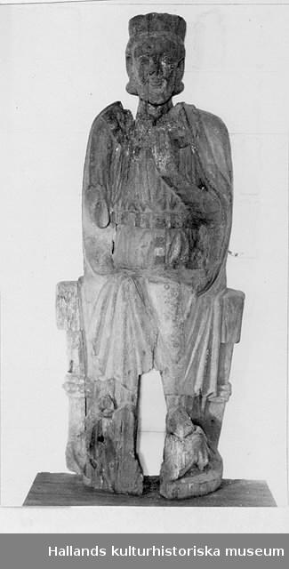 Målad träskulptur, St Olof.