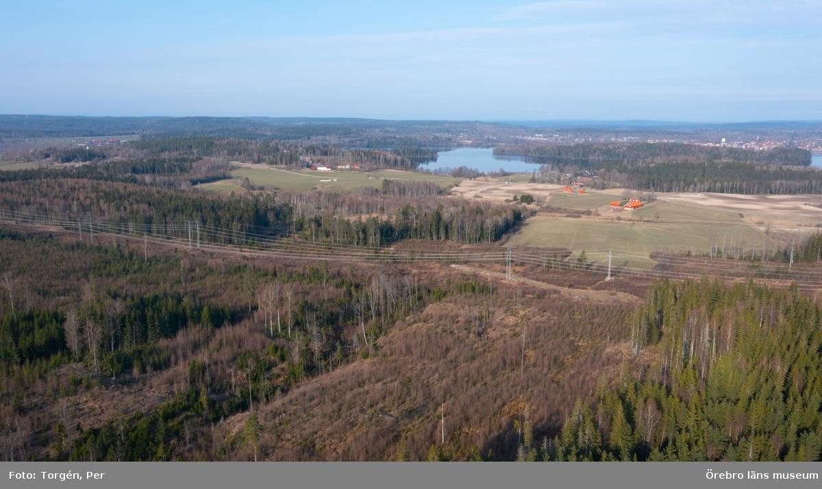 Vy över Norasjön. Bild tagen från Alntorps hytta.