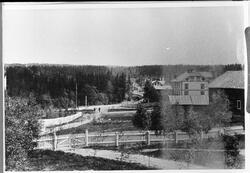 Raufoss sentrum ca. 1904. Bildet er tatt fra den midtre funk