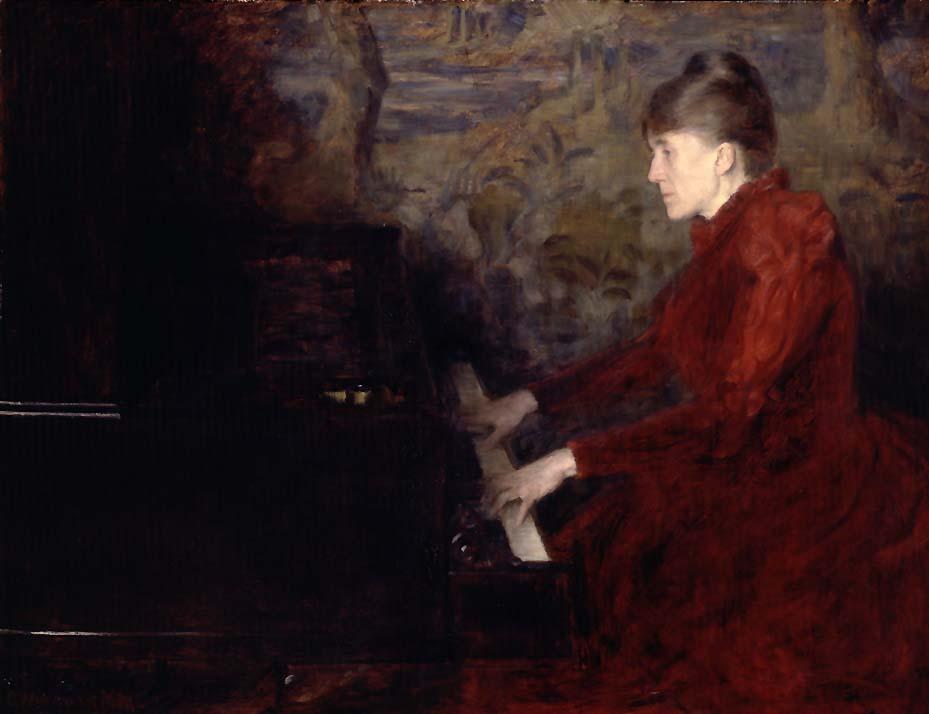 Pianistinnen Erika Nissen [Maleri]