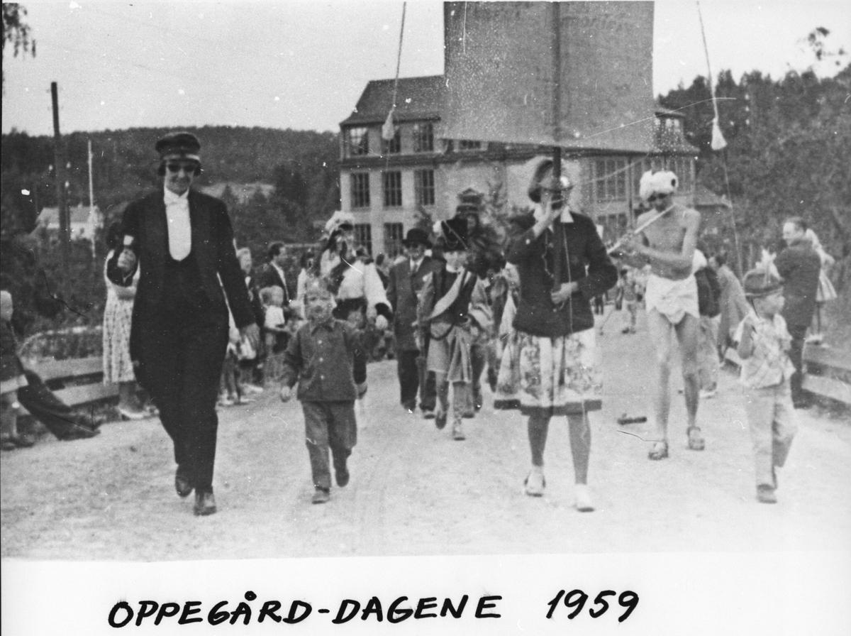 Feiring av Oppegård-dagene 1959 med opptog