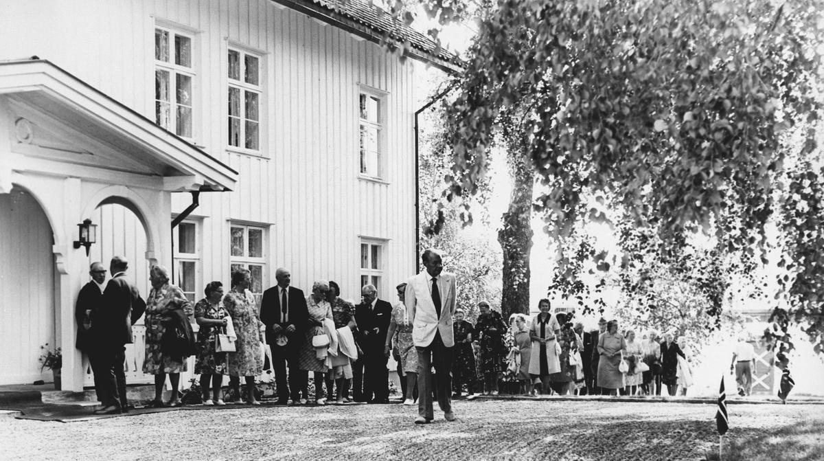 Selskap hos Lai Berg på Bergvad Gård, Skogsbygda