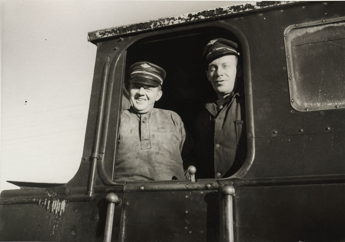 Lokomotivpersonalet i lok 4 Setskogen