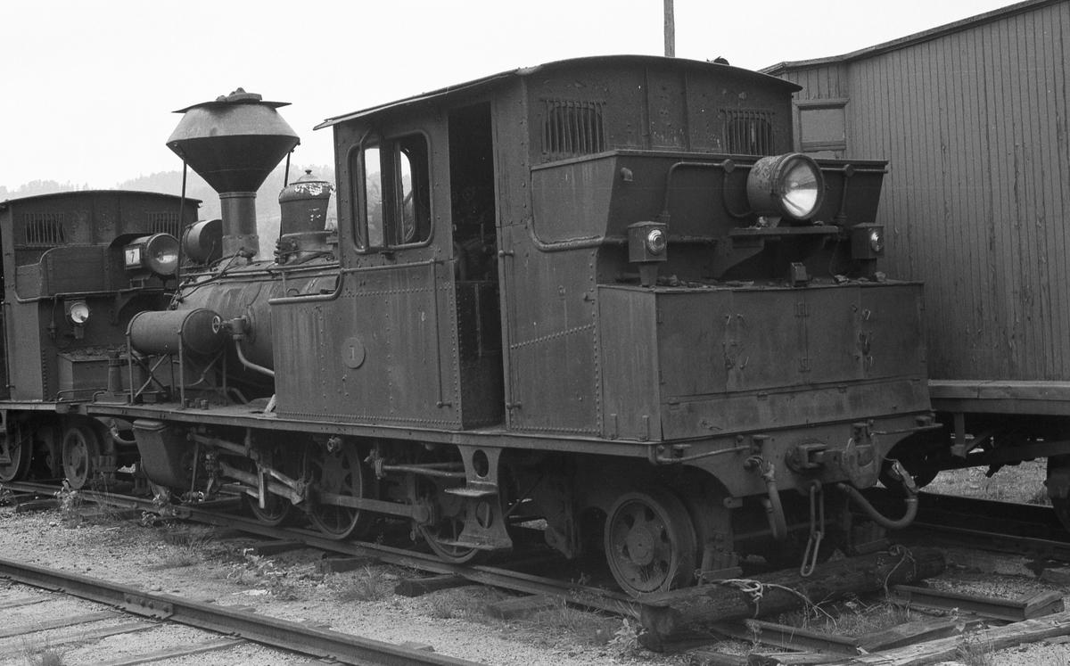 Damplokomotiv nr 1 hensatt på Grovane