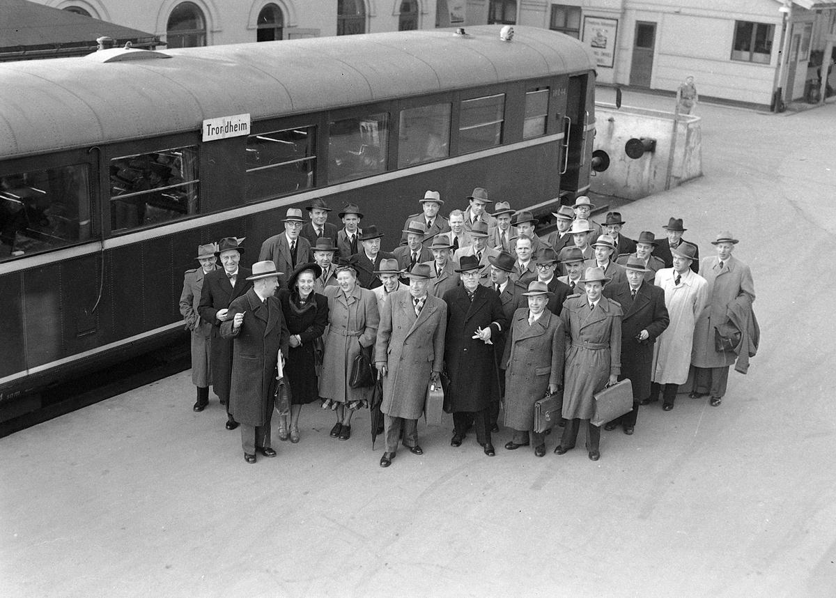 Svenske jernbanefolk på besøk i Trondheim