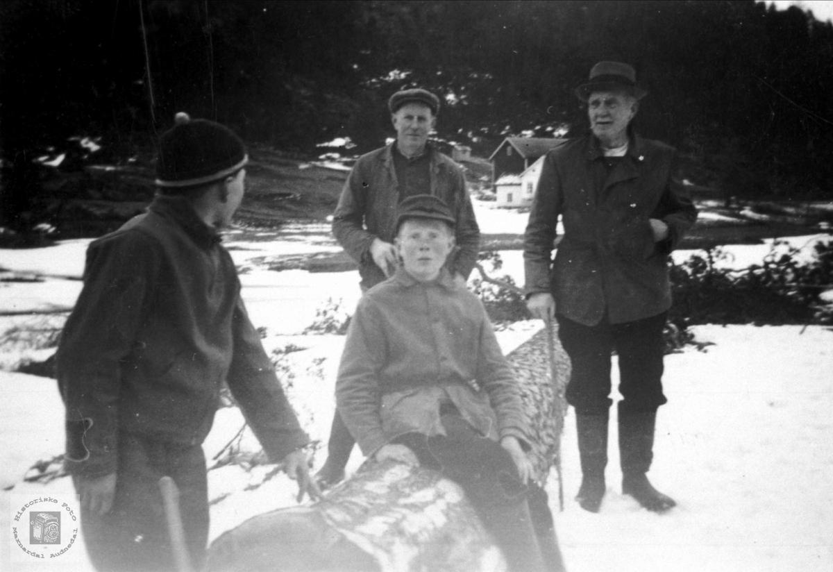 3 generasjonar skogbrukere Ytre Homme, Bjelland