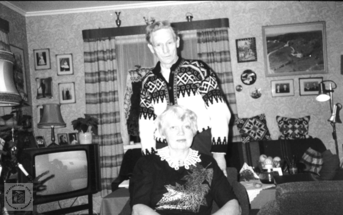 Ekteparet Frithjof og Anna Tjomsland. Laudal.