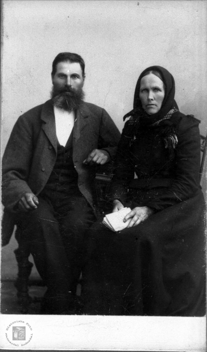 Portrett av Guttorm og Anna Skuland, Laudal.
