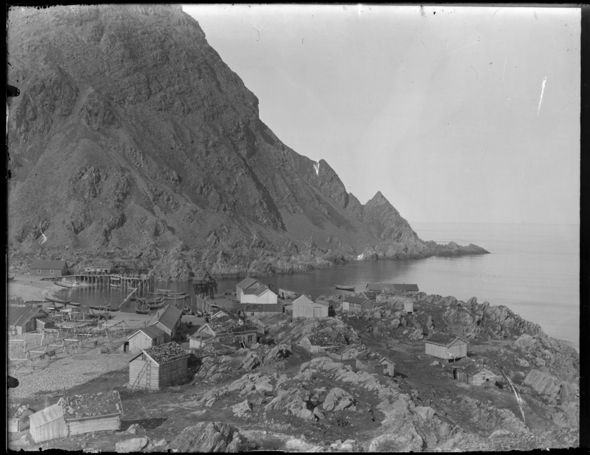 Fiskeværet Losvik fotografert mot sjøen