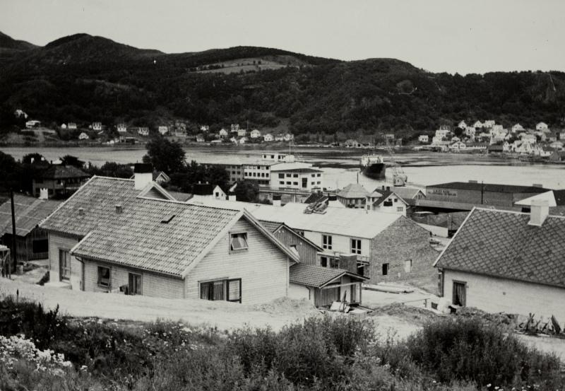 Ganns-området på Sandnes med eneboliger, i bakgrunnen Hana og Roviksfjellet