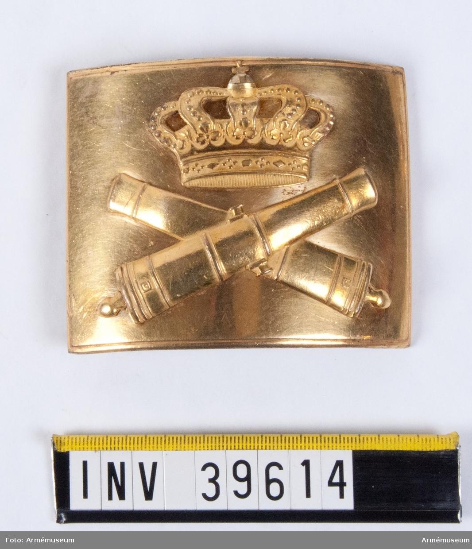 Grupp C II. Värjgehängsspänne m/1794 för officer vid artilleriet, Sverige.