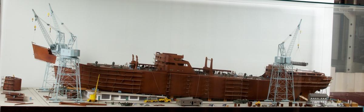 Skipsbygningsmodell av BMV Solheimsviken
