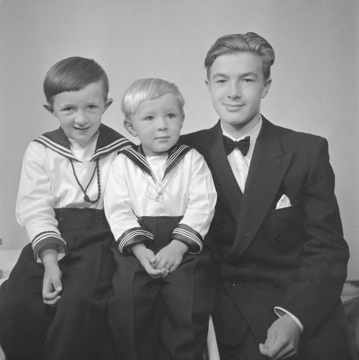 Halstein Malum med brødrene Eivind og Magne