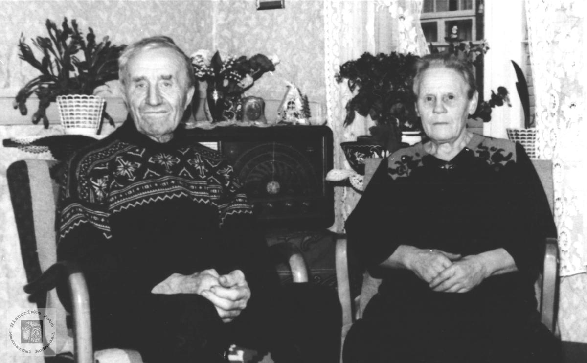 Pensjonistekteparet Bent Olson Kleiven og Anna Joensdtr (f.Øydna) Kleiven.